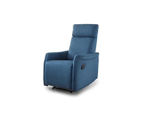 Poltrona Relax Reclinabile Manualmente Michela Tessuto Blu