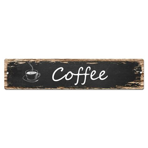 Maybe the day doesn't start until the caffeine hits your bloodstream, or maybe you simply love the ritual of making a cup of joe. SP0024 Coffee Street Sign Bar Store Shop Pub Cafe Home ...