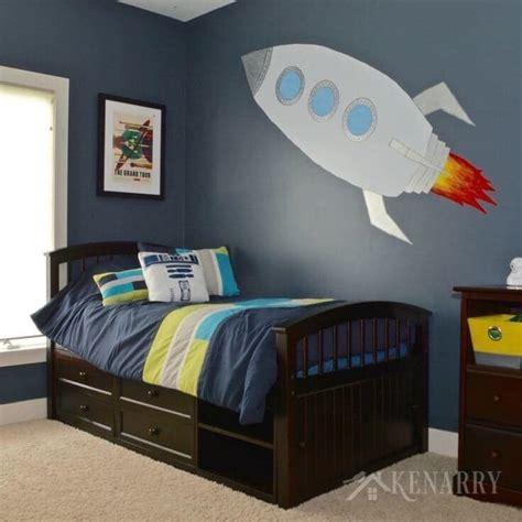 Space Bedroom Ideas by Outer Space Boys Bedroom The Reveal