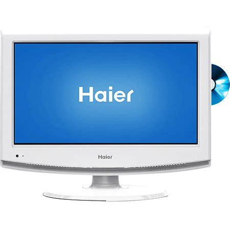 haier  class lcd hdtvdvd combo hlckw white