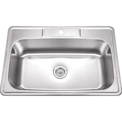 33x19 single bowl kitchen sink 33 inch stainless steel top mount drop in single bowl