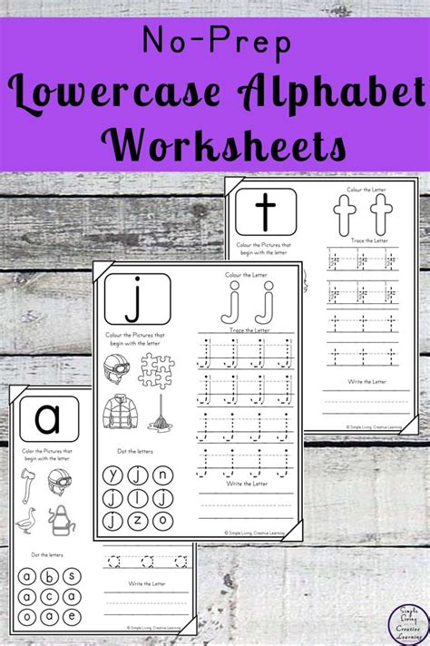 prep lowercase alphabet worksheets  images