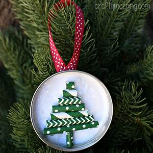 Mason Jar Lid Ornament Straw Christmas Tree Crafty Morning