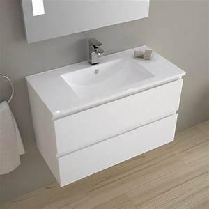 meuble salle de bain 80 cm faible profondeur plan With meuble lavabo salle de bain profondeur 35 cm