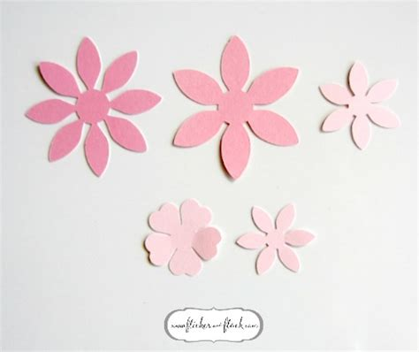 Paper Flower Template Diy Paper Flower Card Freebie Template Flicker Flock