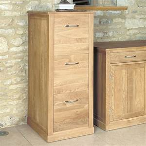Mobel Oak Three Drawer Filing Cabinet Wooden Furniture Store