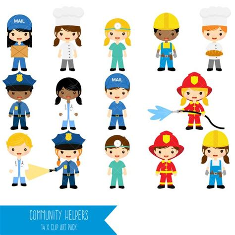 Community Helpers Clipart Job Clip Art Profession Clipart Etsy