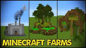 11 Minecraft Farm Designs! - YouTube