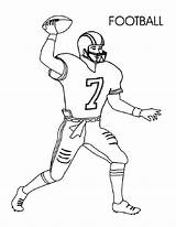 Football Coloring Pages Preschoolers Player Activity Via sketch template