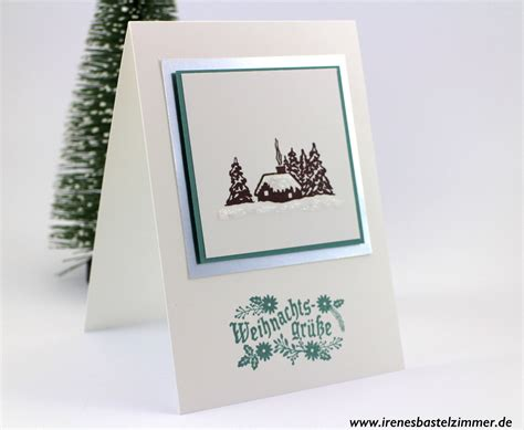 weihnachtskarten basteln magische weihnachten