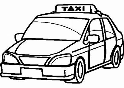 Taxi Coloring Drawing Pages Transportation Printable Drawings