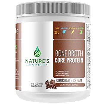 Amazon.com: Chocolate Bone Broth Protein Powder, Grass Fed