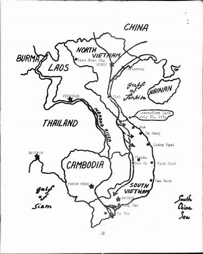 Map Vietnam Coloring Asia Hand Drawn Pages