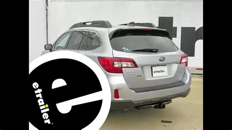 Installation of a Trailer Hitch on a 2016 Subaru Outback