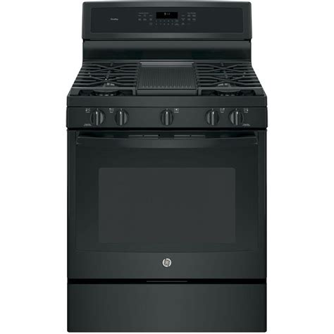 ge profile ge profile 30 in 5 6 cu ft gas range with self cleaning