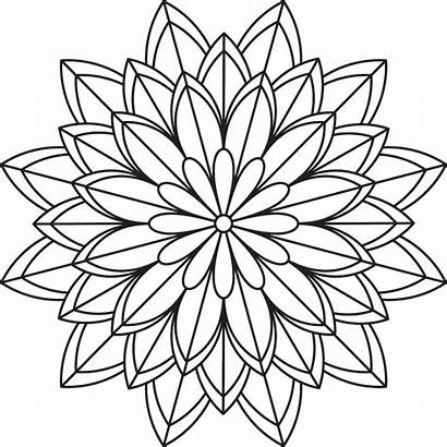 Mandala Coloring Pages Flower Simple Patterns Printables