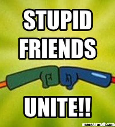 Stupid Friends Meme - stupid friends unite