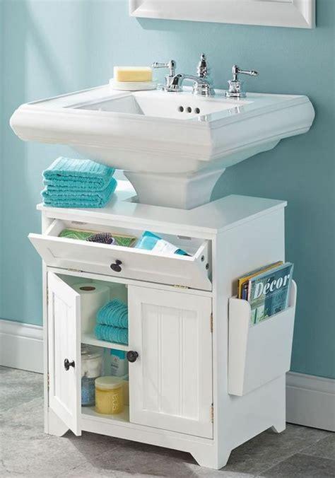 bathroom sink storage ideas 18 space saving ideas for your bathroom pedestal sink