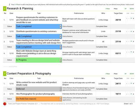 free task management templates task planner template planner template free
