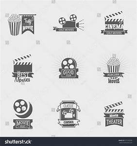 Set Vector Cinema Logos Signs Movie Stock Vector 373160182 ...