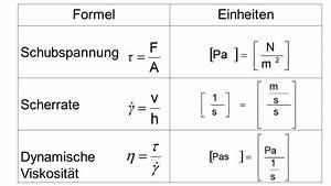 Dynamische Viskosität Berechnen : rheologie ~ Themetempest.com Abrechnung