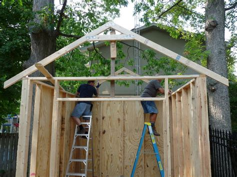 how to build shed trusses build your own storage shed 12 steps with pictures