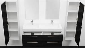 Meuble Salle De Bain 2 Vasques : meuble salle de bain doubles vasques ortense ~ Edinachiropracticcenter.com Idées de Décoration