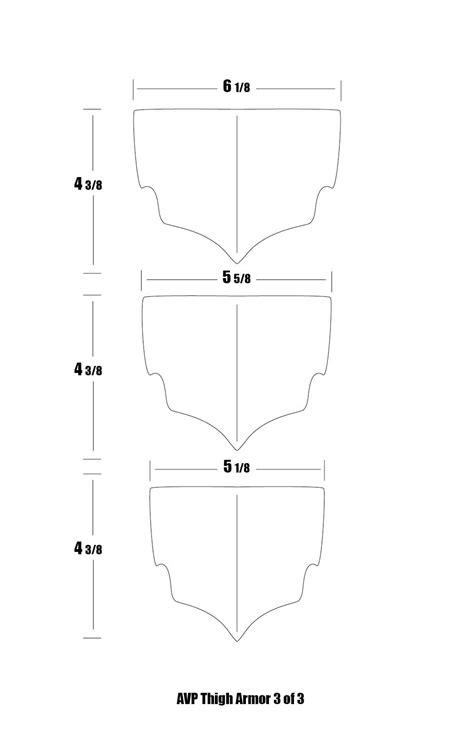 Thigh Armor Template by Avp Armor Templates By Vinman Predator Costume Cosplay
