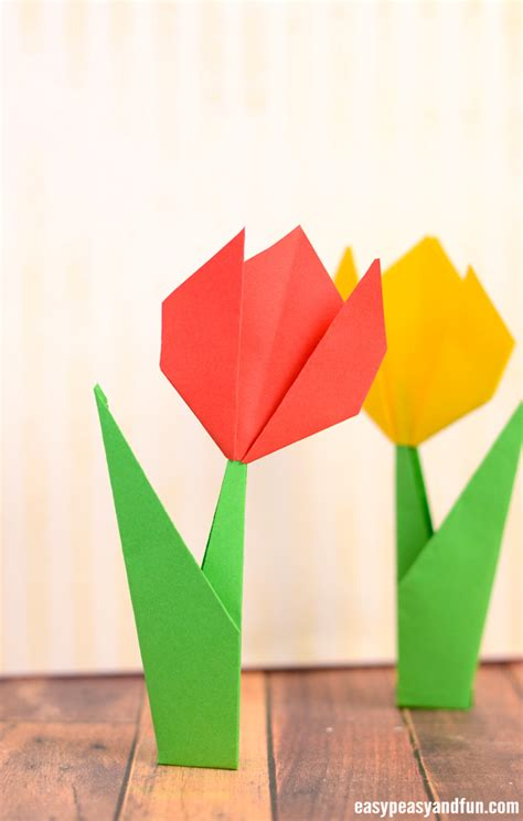 How Make Origami Flowers Tulip Tutorial With