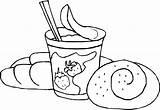 Coloring Bread Yogurt Sheet Cream Ice Taco Getcolorings Colorings Birthday Children Printable Sheets Getdrawings Coloringpagesfortoddlers sketch template