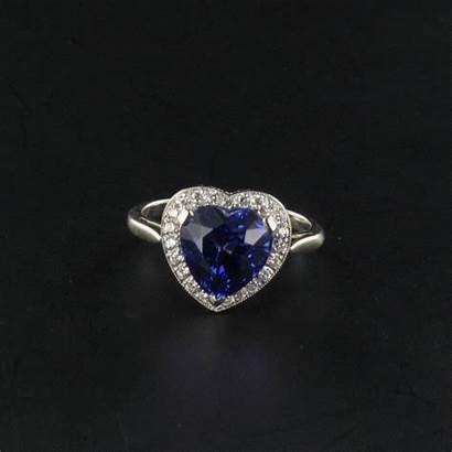 Bague Diamants Tanzanite Coeur Bijouxbaume