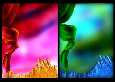colorful ribbons psd background material  millions
