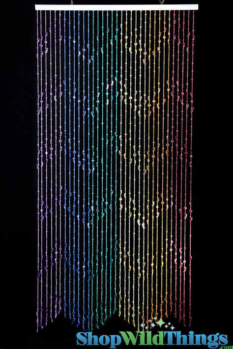 beaded curtain rainbow decorate the house with beautiful