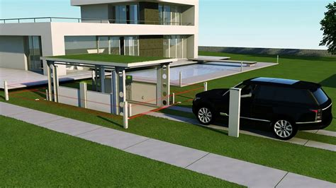 idealpark car lift invisible solution  private house