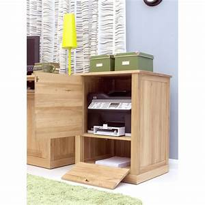 Mobel Printer Computer Storage Cabinet Cupboard Solid Oak