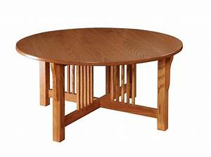 Amish prairie mission round coffee table for Round mission coffee table