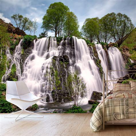 Фотообої Весняний водоспад купити на стіну • Еко Шпалери