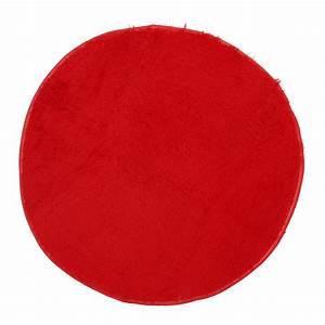 Tapis Rond Rouge : tempsa tapis rond rouge peluche anti d rapant pour salle de bain chambre 120cm achat vente ~ Teatrodelosmanantiales.com Idées de Décoration