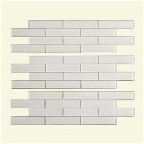 Subway Tile Backsplash Home Depot by Aspect Subway Matted 4 In X 12 In Glass Decorative Tile