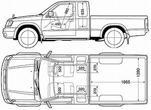 2001 nissan d22 pickup truck blueprints free outlines With single cab nissan d21