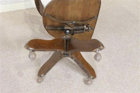 1930s oak tilt and swivel office chair 255833