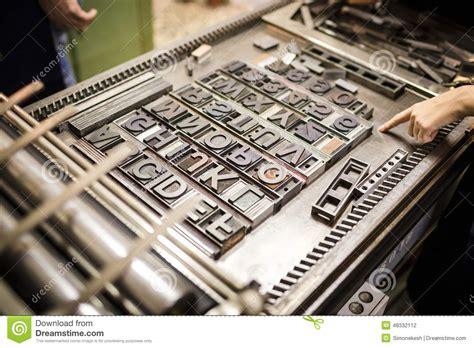 old typography printing machine stock photo image 48332112