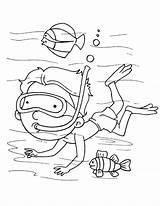 Diver Coloring Sea Scuba Diving Pages Deep Sketch Printable Template Getdrawings Getcolorings sketch template