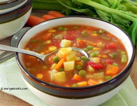 veggie soup an expat cooks homemade vegetable soup