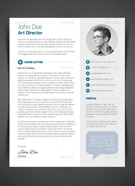 curicculum vitae 3 piece resume cv cover letter by bullero graphicriver