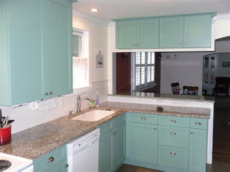 Teal Kitchen Cabinets by Cabinet Refinishing Kitchen Cabinet Refinishing Summit
