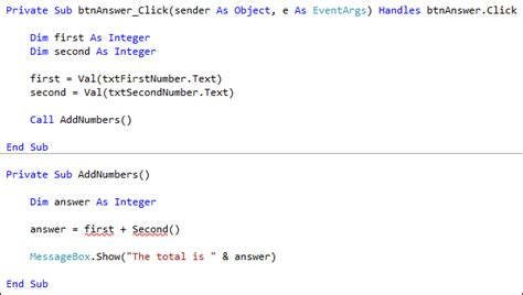 finction for creating an array from multiple form posts visual basic net programming using parameters in your subs
