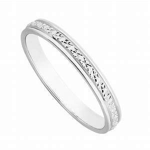 Ladies39 9ct white gold one row sparkle cut wedding ring for Wedding rings in white gold