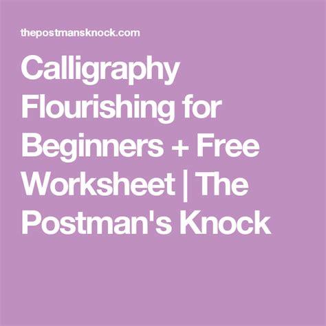 calligraphy flourishing  beginners  worksheet