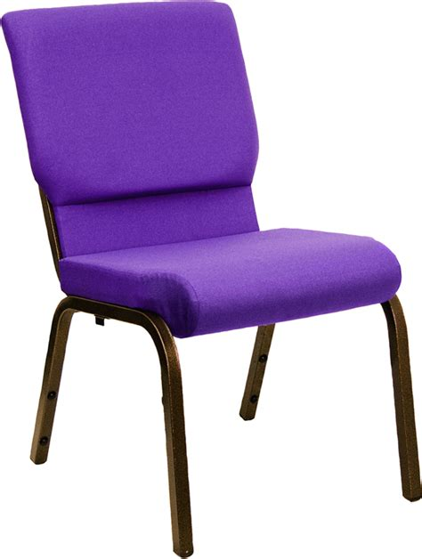 hercules church chair in purple w 18 5 quot w seat church